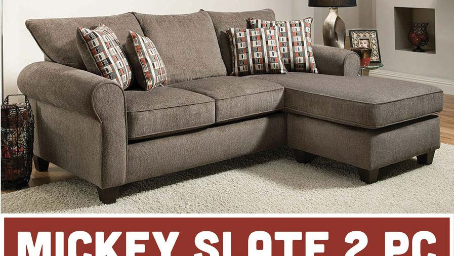 Featured Friday: The Mickey Slate 2 Piece Sectional Sofa (Only $598!)