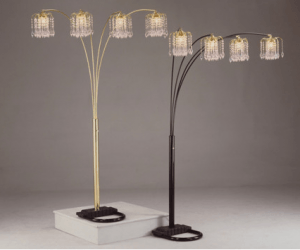 American Freight Rain Drop Floor Lamps