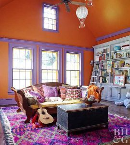 Ultra Violet Contrasting Baseboards and Trim