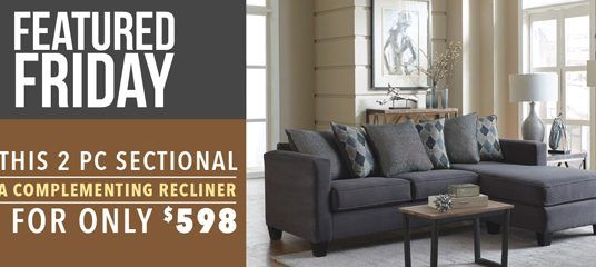 Sectional and Recliner Deal : Featured Friday
