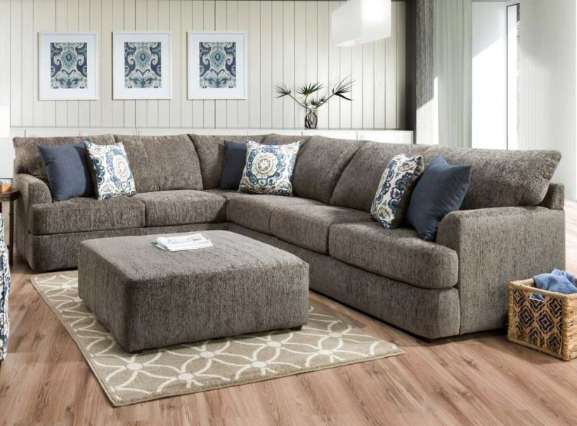 New Products Tuesday Teaser Gray Sectional