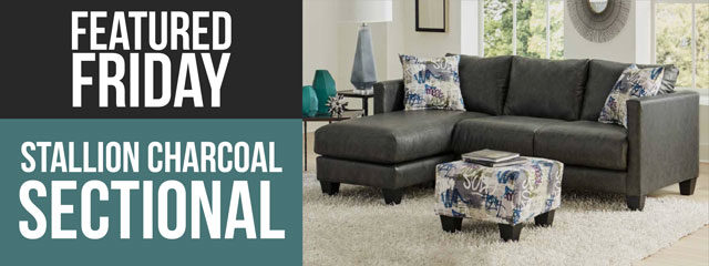 Hot To Trot Stallion Charcoal Sectional Couch American Freight Blog