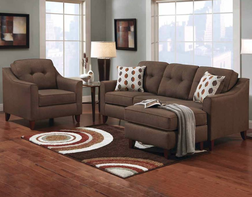 Stoked Chocolate 2 pc Brown Sectional Sofa American Freight