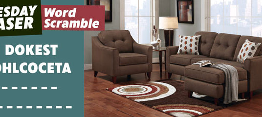 Brown Sectional Surprise: Can you Guess it? Tuesday Teaser