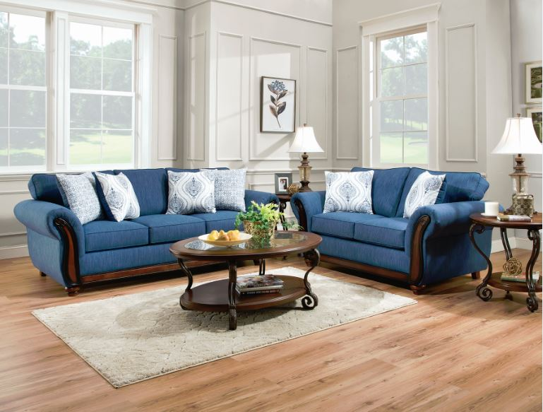 blue sofa and loveseat 1