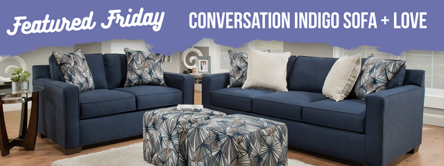 Blue Sofa & Loveseat: A Real Conversation Piece