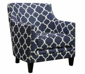 Blue furniture accent chair