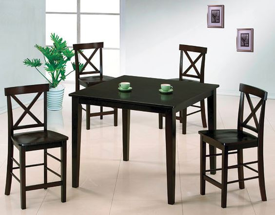 Five piece espresso pub set