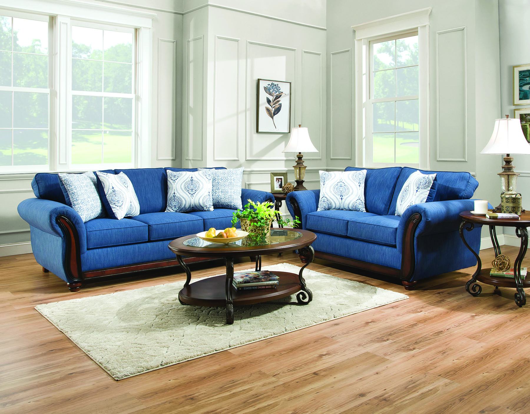 blue sofa and loveseat 2