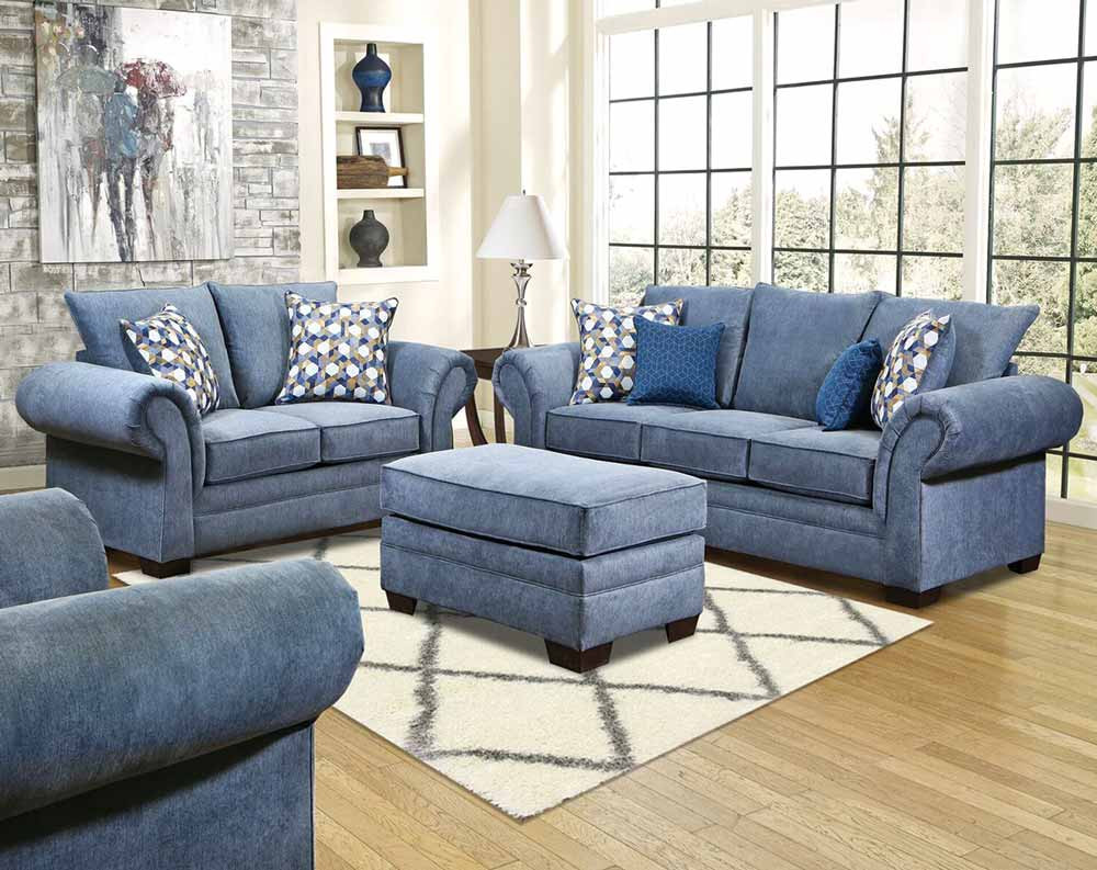 world of color add blue to your living room american. Black Bedroom Furniture Sets. Home Design Ideas