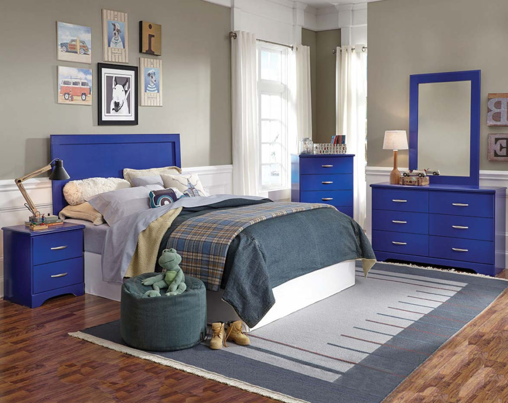 Leo Blue Bedroom Set