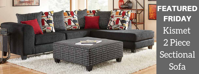 The Kismet 2 Piece Sectional Sofa is Fit for All Seasons