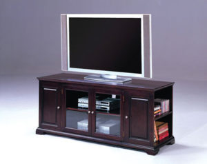 Espresso 2 Door Media Stand