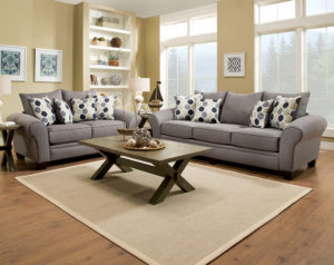 Heritage Gray Sofa and Loveseat