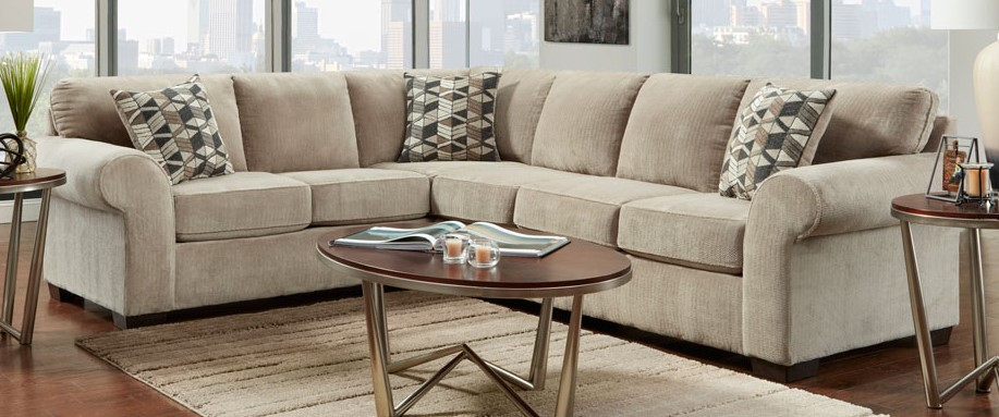 Chevron Seal Sectional Sofa