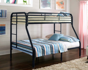 Twin over full metal bed