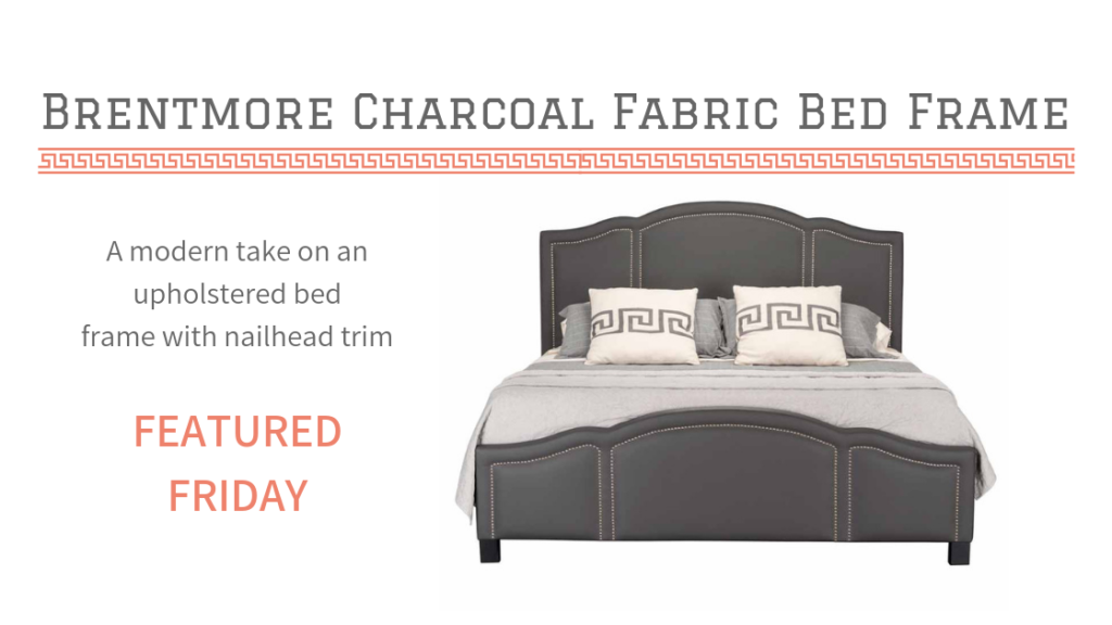 You'll Love This Charming Charcoal Fabric Bed Frame