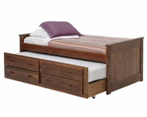 chocolate heartland mission captain's bed with trundle