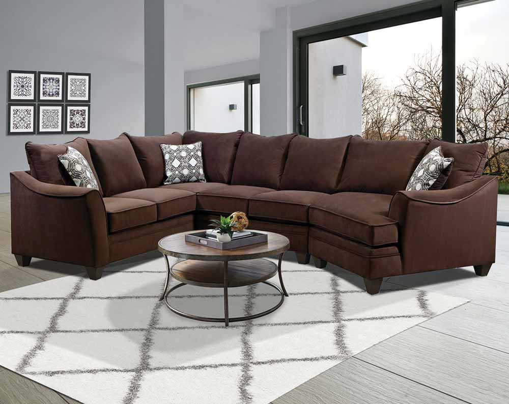Factor Chocolate Cuddler Sectional Sofa