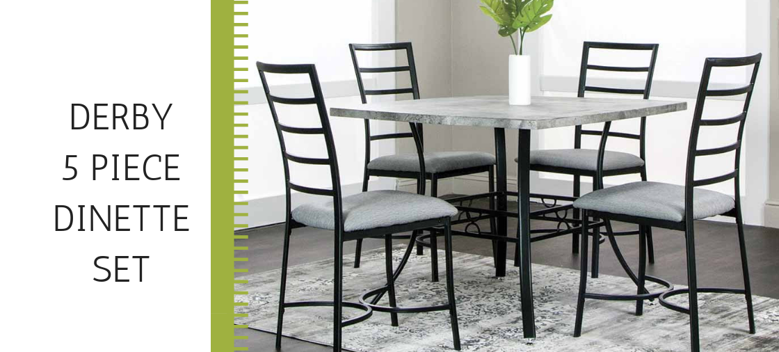 Race for the Derby 5 Piece Dinette Set
