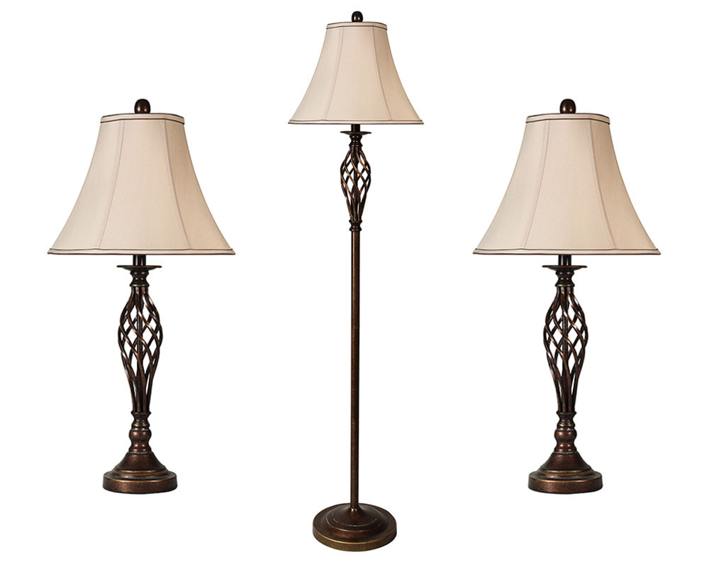 Barclay Brass Cage 3 Lamp Multi Pack