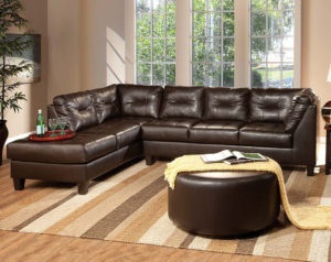 San Marino Chocolate Brown Sectional