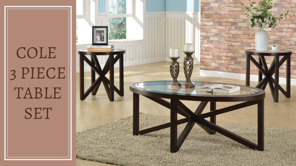 This Coffee Table Set is a Trendy Trio