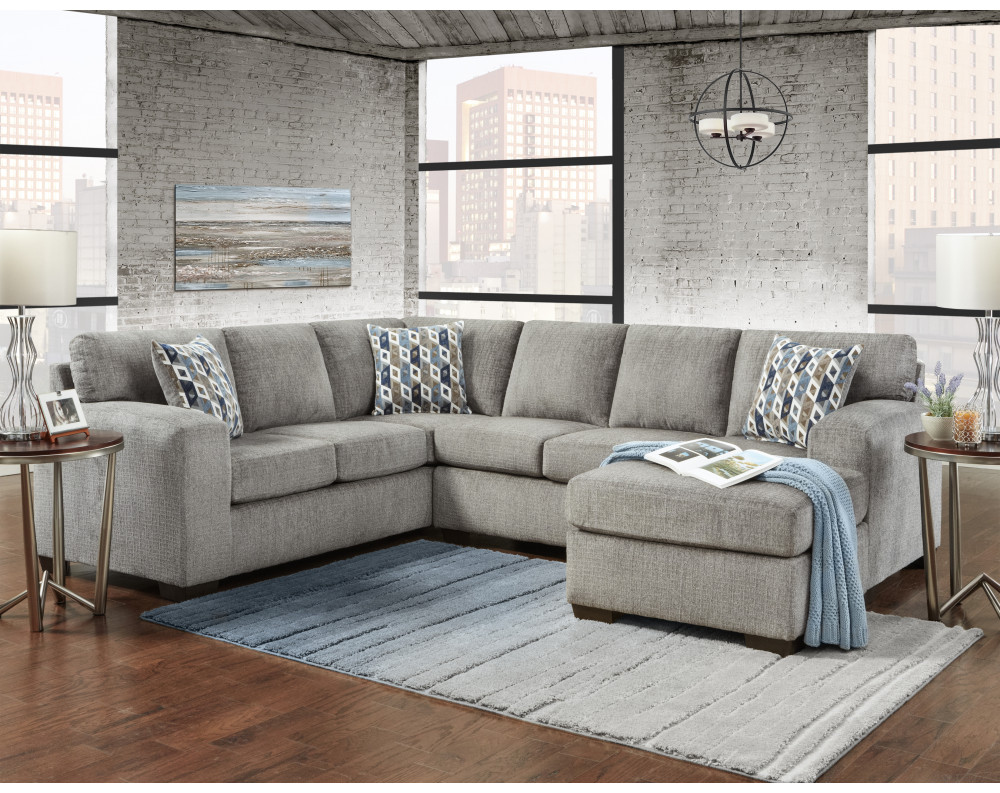 Silverton Pewter Sectional Sofa