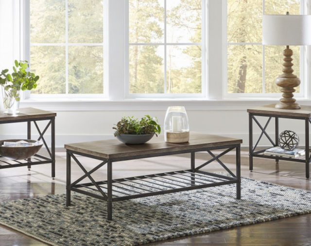 A Rustic Coffee Table Set For Your Living Room American Freight Blog