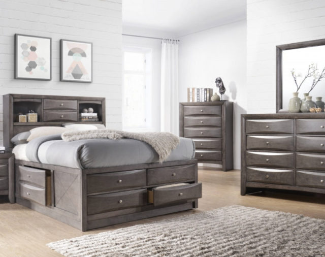 The Emily Grey Offers Optimal Bedroom Storage