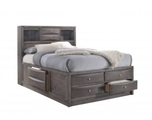 Emily Grey Storage Bed