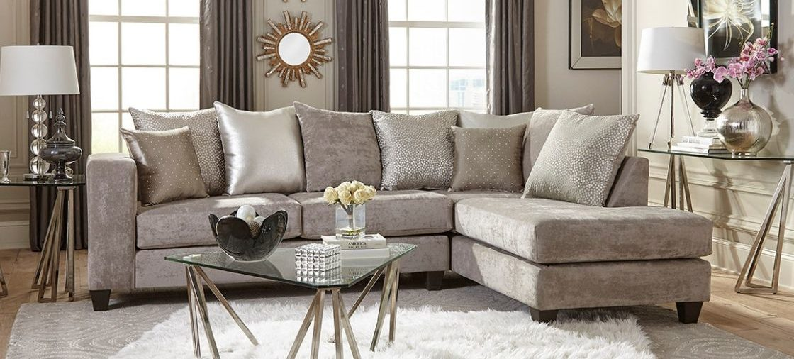 Check Out Our Favorite Neutral Velvet Sectional