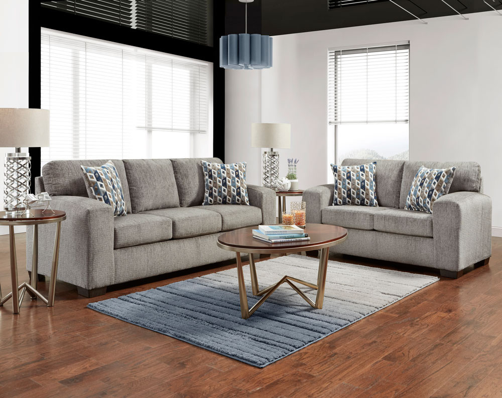 Silverton Pewter Sofa & Loveseat Collection