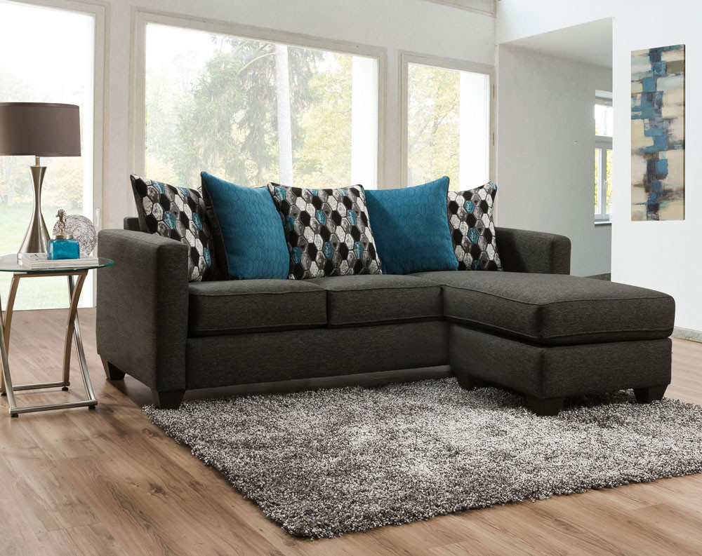 Mason Charcoal Sectional Collection Matches Chinese Porcelain