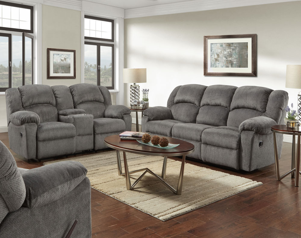 Kelly Gray Motion Sofa and Loveseat Collection