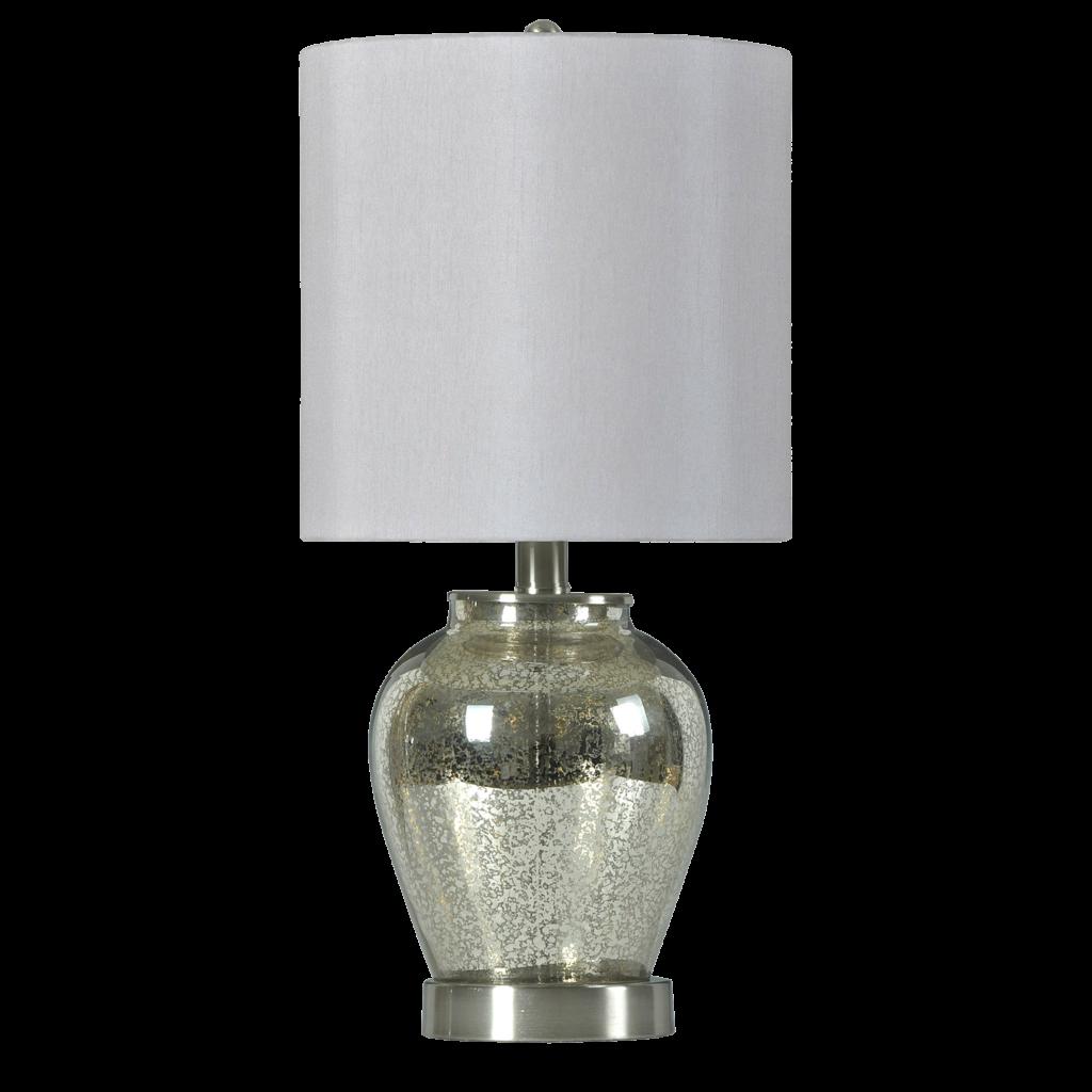 Chrome Glass Globe Table Lamp