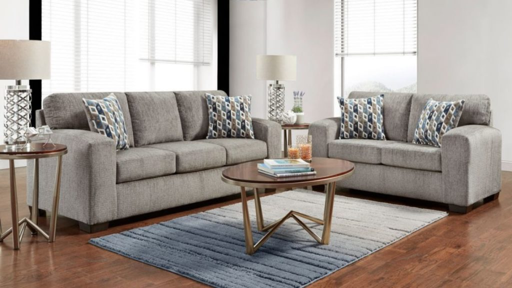 You Choose! Silver Sofa Set or Sectional?