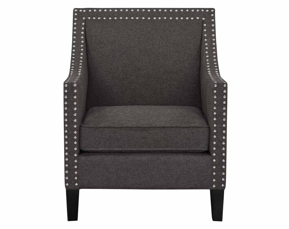 Hailey Chair-Hailey Accent Chair Chocolate