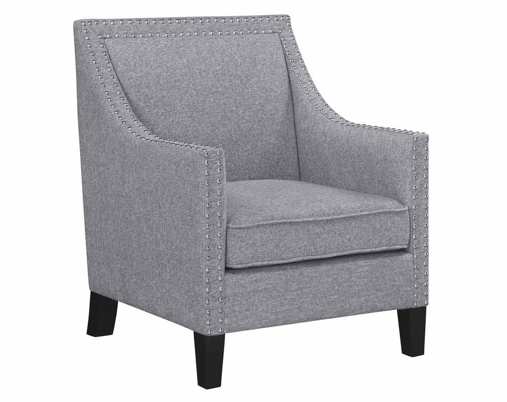 Hailey Chair- Hailey Accent Chair Grey