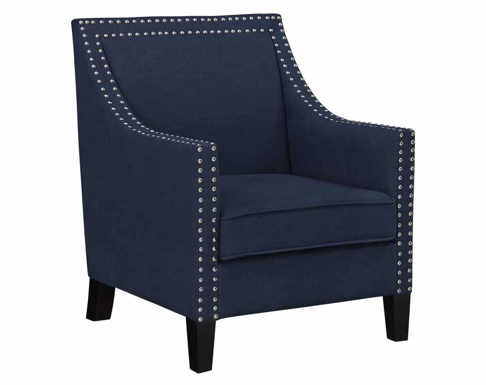 Hailey Chair-Hailey Accent Chair Navy