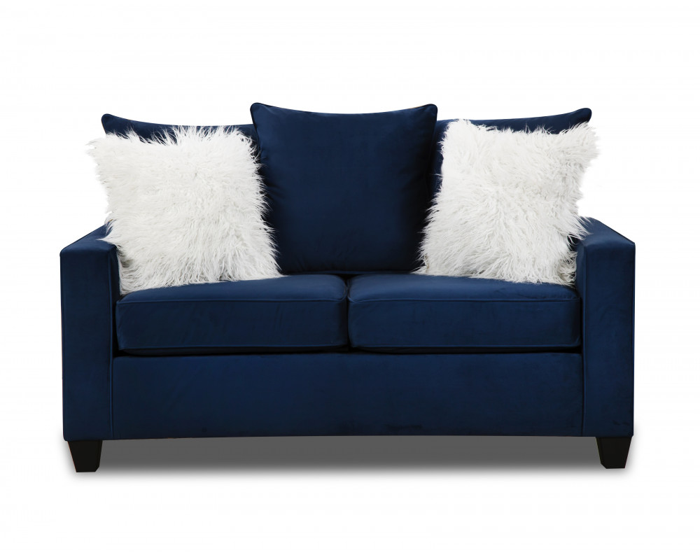 Indigo Blue Loveseat