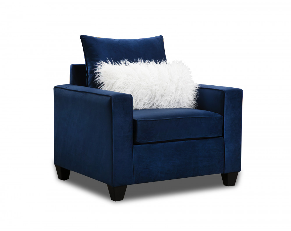 Indigo Blue Accent Chair