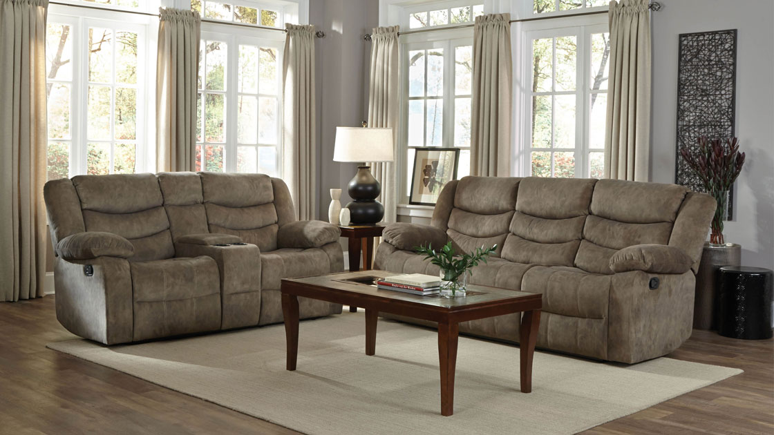 Ridgecrest Motion Sofa and Loveseat